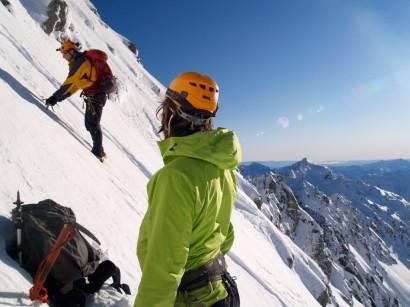 Attempting the last climb up Murchison-Kahutea Col
