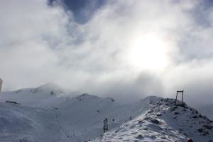 Snow laden cloud rolling in